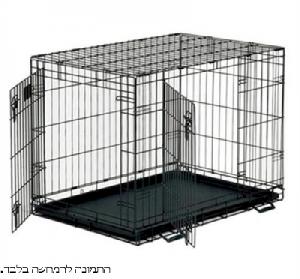 כלוב אילוף לכלבים 34′ בעל 2 דלתות