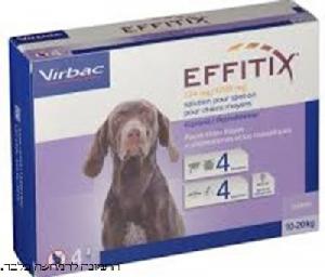 אפיטיקס אמפולה לכלב נגד קרציות ופרעושים 10-20 קילו 4 יחידות EFFITIX