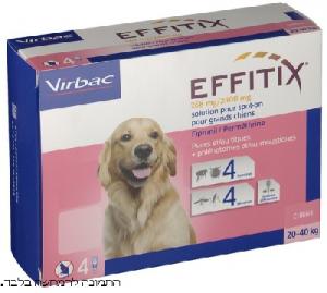 אפיטיקס אמפולה לכלב נגד קרציות ופרעושים 20-40 קילו 4 יחידות EFFITIX
