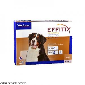אפיטיקס אמפולה לכלב נגד קרציות ופרעושים 40-60 קילו 4 יחידות EFFITIX