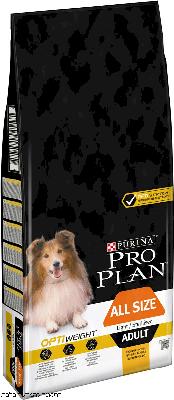 פרו פלאן לכלב  בוגר כל הגדלים עוף אופטי ווייט  PRO PLAN OPTI WIEIGHT CHIKEN ALL SIZE גדול