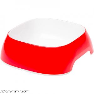 קערת פלסטיק אדום בינוני גלאם  Bowl GLAM