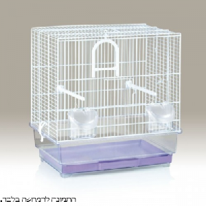 כלוב מתכת קטן לבן למכרסם/ציפור