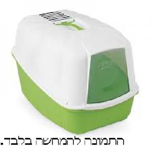שירותים סגורים לחתול ירוק + כף לחול + פילטר M-PETS
