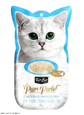 קיט קאט חטיף לחתול בטעם עוף ודג מעושן  KIT CAT