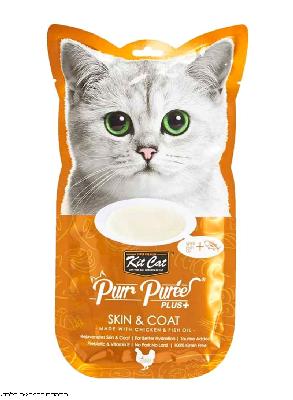 קיט קאט חטיף לחתול בטעם עוף לבעיות עור ופרווה KIT CAT