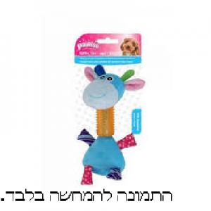 צעצוע כלב בובה + ציפוי גומי פאווזי