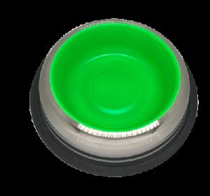 קערת נירוסטה עם גומי נגד החלקה ירוק בינוני פטאקס  Stainless Steel Bowl ללא ברקוד