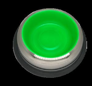 קערת נירוסטה עם גומי נגד החלקה ירוק גדול פטאקס  Stainless Steel Bowl ללא ברקוד