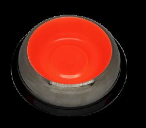 קערת נירוסטה עם גומי נגד החלקה כתום גדול פטאקס  Stainless Steel Bowl ללא ברקוד