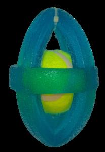 נשכן אלפסי עם כדור טניס