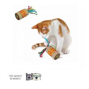 משחק צעצוע חתול גליל חוטים ונוצות