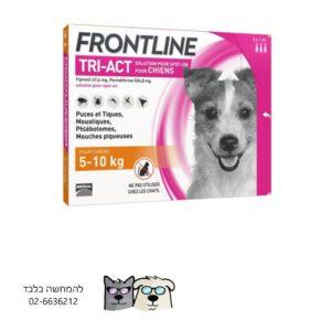 אמפולות לטיפול ומניעת קרציות ופשפשים לכלב 5-10 קג FRONTLINE